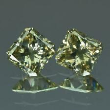 AMAZING DIAMOND PAIR 2.24 cts 100% Natural Fancy Yellowish Green Color Diamonds