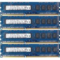 Hynix 32GB KIT 4X8GB PC3L-12800E DDR3-1600Mhz 1.35V 240Pin ECC Unbuffered Memory