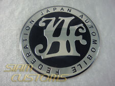 JAF JAPAN AUTOMOTIVE FEDERATION EMBLEM LOGO BADGE JDM