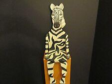 Safari Zebra-Shaped Wood Shelf, Nursery Decor