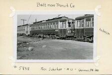 V172 RP 1930s? BALTIMORE md TRANSIT CO PASSENGER MU #5843 SPARROWS POINT LINE