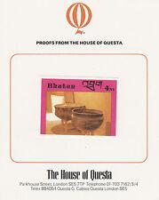 Bhutan 2646 - 1988 HANDICRAFTS & ANTIQUES 4nu on HOUSE OF QUESTA PROOF  CARD