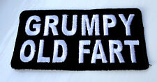 P1 Grumpy Old Fart Funny Humour Iron Patch Motorcycle Laugh Biker Saucy Cheeky