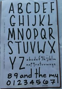 Club Scrap REFRESH February 2007 Unmounted Rubber Stamps NEW ~ Alphabet Numbers