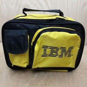 YELLOW IBM Lunch Box / Bag Vintage Logo Cooler Meal Cold Warm