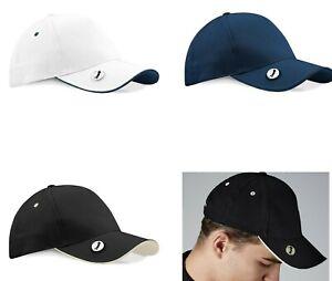 Golf Caps With Marker Magnet UPF 50+ Sun Protection Golfer Hat Golfing Baseball