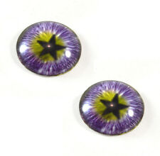 Pair of 25mm Purple Star Glass Eyes for Jewelry Pendant or Taxidermy Doll Crafts
