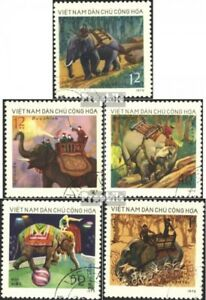 Vietnam 751-755 (complete issue) used 1974 Working elephants