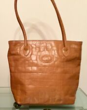 00a44ef76286 Vintage Mulberry Tan Sand Congo Leather Print Hoxton Shoulder Tote Bag