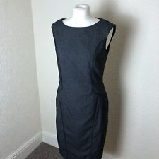 Next Grey Sleeveless Shift Dress Size 12 Workwear Interview UK Blogger