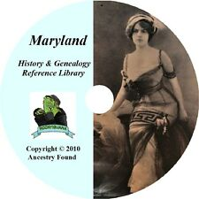 MARYLAND - History & Genealogy - 51 old Books on DVD - Ancestors, County, CD, MD
