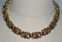 VTG New Old Stock ERWIN PEARL Gold Tone Metal Choker Necklace