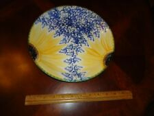 "Poole Pottery England Vincent Hand Painted Sunflower Large 10 3/4"" Dinner Plate"