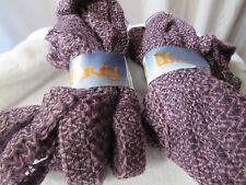 Euro Yarns WAVY 2 Skeins 3.5 Oz  Color 2 Lot 001 Shades of Purple Made in Italy