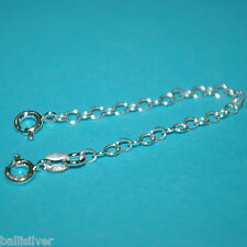 """Chain Extenders with 2 Spring Clasps Lot 6 pieces 925 Sterling Silver 4"""" Safety"""