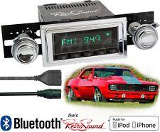 RetroSound 69 Camaro Model TWO-B Radio/BlueTooth/iPod/USB/Mp3/3.5mm AUX-In