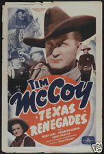 Texas Renegades Tim Mc Coy western movie poster #2