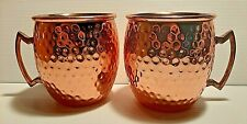 Hammered Copper Stainless Steel Wine Mugs Cups for Drinking Moscow Mule Brand
