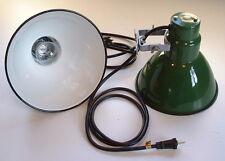 2 Benjamin CHRISTMAS Spot Lights Green Porcelain SIGN Vtg. Industrial Utility