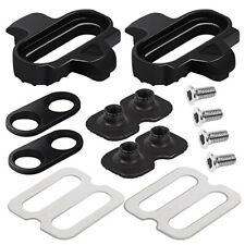 Black Professional Pedals Cleat Set for MTB Mountain Bike Bicycle Accessory YU