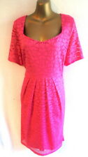 Twiggy for M&S Collection 16 Dress BNWT in Pink Lace slimming lining  (B1056