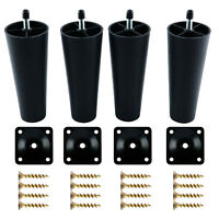 4pcs M8 Round Tapered Furniture Legs Feet for Sofa Bed Table for IKEA Furniture
