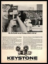 1962 Keystone K-14 Reflex Zoom Home Movie Camera Baseball Game Vintage Print Ad