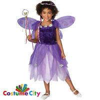 Childs Girls Purple Plum Pixie Fairy Fancy Dress Halloween Party Costume