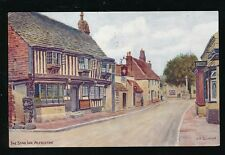 Sussex ALFRISTON The Star Inn artist drawn A R Quinton PPC 1958