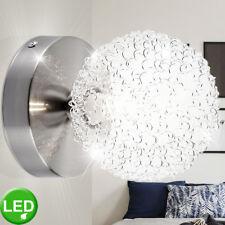 LED Wand Leuchte ALU Geflecht Wohn Zimmer Beleuchtung Glas Kugel Spot Lampe klar