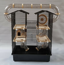 Hamster Cage House Water Bottle Wheel Many Tubes Rodents Mouse Gerbil Animal Pet