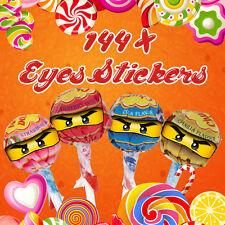 144 x lego ninjago yeux autocollants pour sucettes anniversaire fête célébration étiquettes