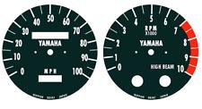 YAMAHA DT175 DT250 DT350 DT400  Speedometer Tachometer Gauge Face decals 20-047
