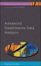 Advanced quantitative data analysis (paperback 2003) Duncan Cramer