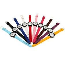 10pcs Women Men Watches Fashion Leather Analog Quartz Student Wrist Watch U99