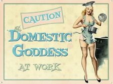 Domestic Goddess at Work, Funny Kitchen, Pin up Girl Home, Novelty Fridge Magnet