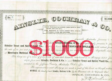 Ainslie, Cochran & Co., Louisville, Kentucky 1892, $1000 Mortgage, +4, VF