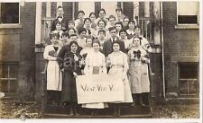 Caesar Class Veni Vidi Vici Sign BARNESVILLE OH Olney Quaker School 1919 Photo