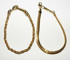 """Exquisite Signed Two  NAPIER Vintage Bracelets Gold Tone Petite 7"""""""