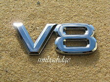 V8 CAR BADGE  *New* Chrome Plastic Emblem - suit Toyota Landcruiser Lexus