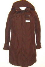 c938e3182b4 Preston   York Women s Water Repellent Trench Coat Size M Hooded Brown New