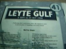 reprint WW2 campaign map leyte gulf 6 september 25 october 1944
