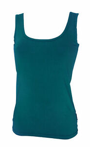 NEW LADIES TEAL BAMBOO TEXTILES SINGLETS SIZES 10 TO 18