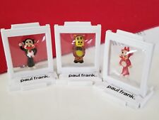 PAUL FRANK TYNIES Worry Bear, Devil Julius, Julius w/cup cake 3pcs Collectibles
