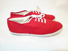 "CONVERSE Women's Red Sneakers Size 8 RARE & VINTAGE ""MADE IN USA"""