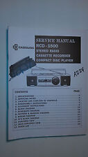 Samsung rcd-1500 service manual original repair book stereo radio cd boombox