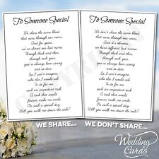 Will you walk me down the aisle Personalised Mum Dad Brother Uncle Step Card A6