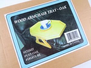 Wood Armchair Tray - Oak - New Old Stock in Sealed Box