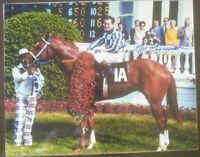 Ron Turcotte Secretariat autograph  Kentucky Derby Winners Circle