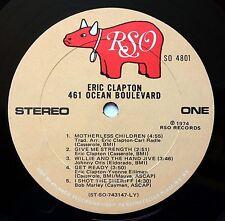 ERIC CLAPTON 461 OCEAN BOULEVARD 1974 LP RSO SO 4801 **NO COVER** ONLY VINYL LP